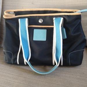 "Genuine Coach purse multicolor 14""x 9"""